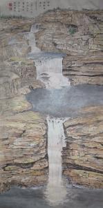 Mitchell Falls Western Australia, Dated 2016, 100 x 50 cm
