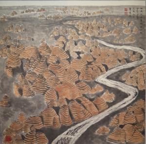 Bungle Bungle (2015), 68 x 68 cm, ink & watercolour on paper