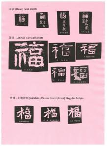 歷代前賢寫福字 (一)