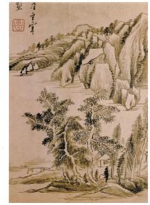 董其昌山水册頁 (1)
