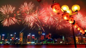 Fireworks in Hong Kong (香港煙火滙演)