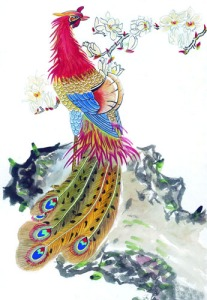 Phoenix (鳳凰) is a legendary bird which is synonymous with good fortune, opportunity, and elegance.