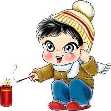 Playing with firecracker (放炮竹)