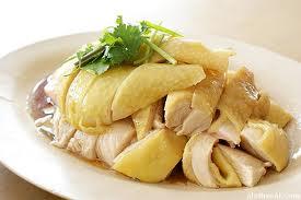 Steamed chicken (白切雞)