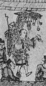 A mobile hawker selling small toys
