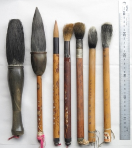 Big brushes for writing large characters or painting huge pictures