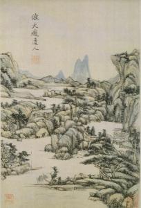 Wang Yuanqi (王原祁) landscape album leaf