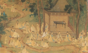 The Sage of Calligraphy, Wang Xizhi. composing the 'Orchid Pavilion Preface', from Anoymous (Ming)3.jpeg