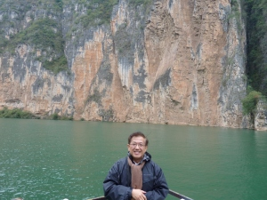 Patrick on a cruise up the Yangtze River in 2013