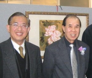 Mr Leung and Patricj in Mr Leung's Solo Exhibition in September, 2010 in Sydney