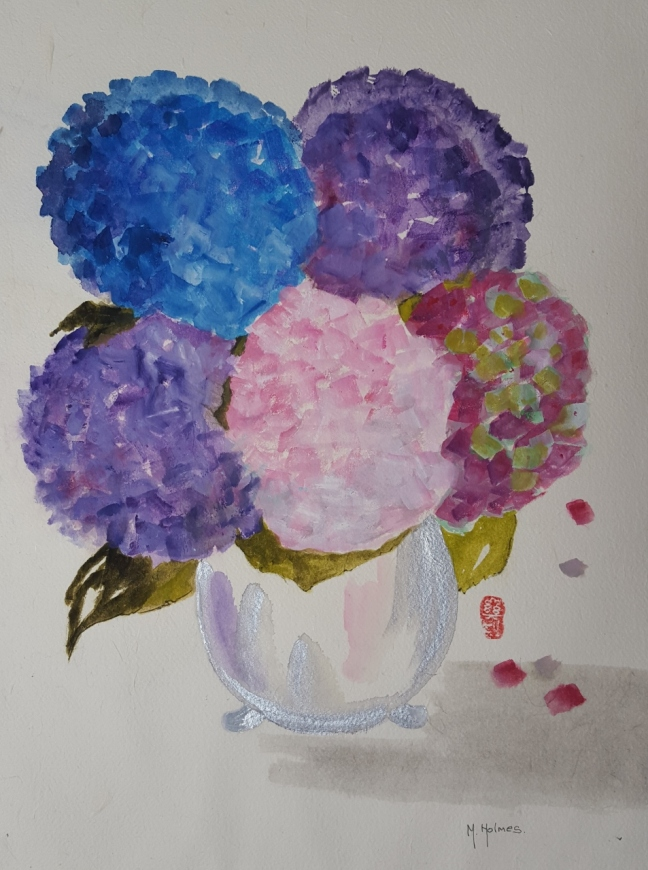 Michelle Holmes, 2015, watercolour on paper, 59 x 43 cm (Courtesy of Michelle)