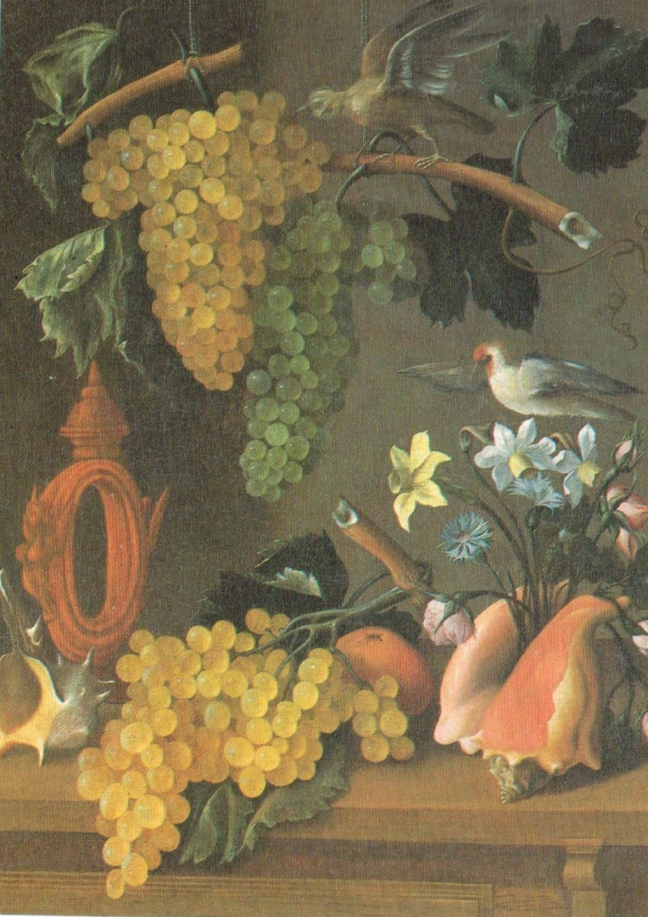 Juan de Espinosa, active in mid-17th Century, Still Life with Grapes, oil on canvas, 83 x 62 cm, the Louvre
