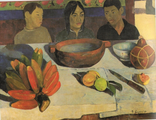 Eugène Henri Paul Gauguin (1848 – 1903), The Meal (The Bananas), 1891, 73 x 92 cm, Musee D'Orsay