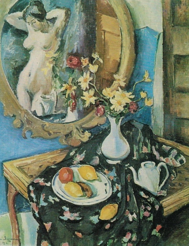 Jean Joveneau (1888 - ?), Still life with a mirror, 1912, oil on canvas, 92 x 74 cm, The Hermitage