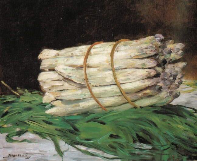 Manet, Bunch of Asparagus, oil on canvas, 46 x 55 cm, Wallraf-Richartz-Museum, Cologne