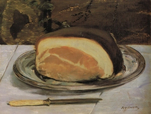Édouard Manet (1832 -1883), The Ham, 1880, oil on canvas, 32 x 42 cm, Burrell Collection, Glasgow