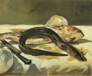 Édouard Manet (1832 -1883), Eel and Red Snapper, 1864, oil on canvas, Musee D'orsay