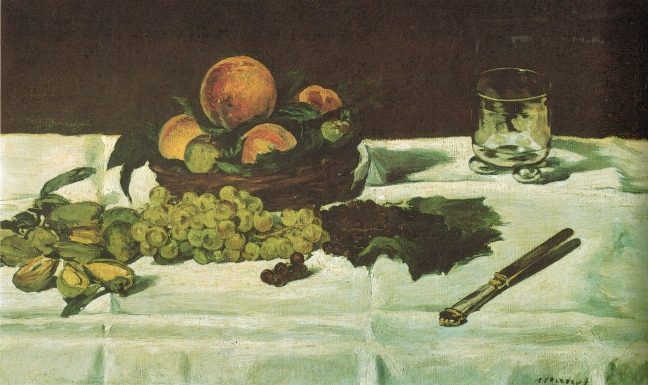 Édouard Manet (1832 -1883), Still Life: Fruit on Table, 1864, 45 x 73.5 cm, Musee D'Orsay