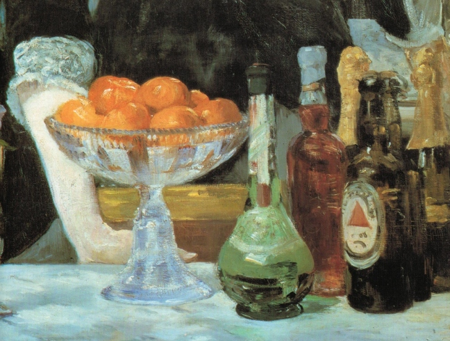 Édouard Manet (1832 -1883), A Bar at the Folies-Bergere (lower left portion), 1881- 82, oil on canvas, 96 x 130 cm, Courtauld Institute Galleries, London