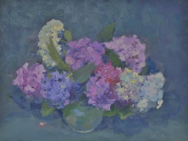 Allan Hansen, circa 1993, oil on canvas, 34 x 46 cm