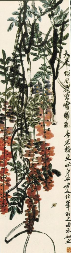Wu Changshuo吴昌碩 (1844 -1927) Wisteria flowers, ink and Chinese watercolour on paper