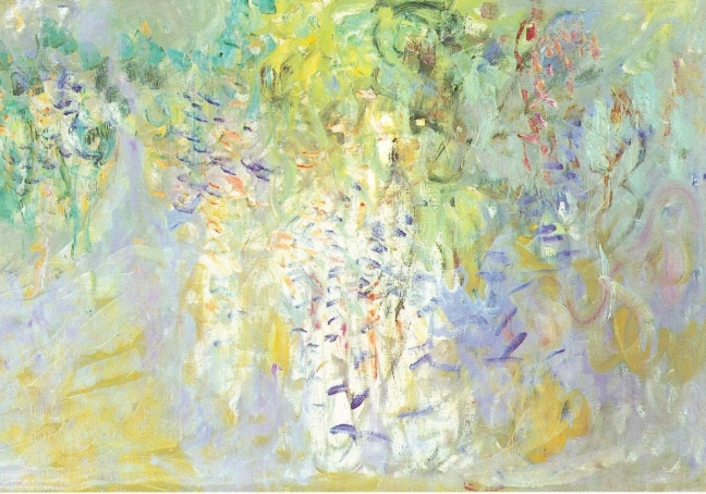 Claude Monet, c 1920 Wisteria, oil on canvas, 100 x 301 cm, Collection of the Musee Marmottam, Paris