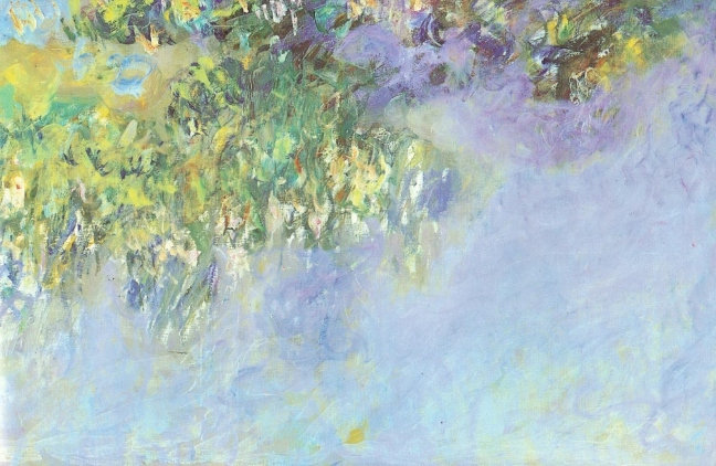 Claude Monet, c 1920 Wisteria, oil on canvas, 100 x 301 cm,