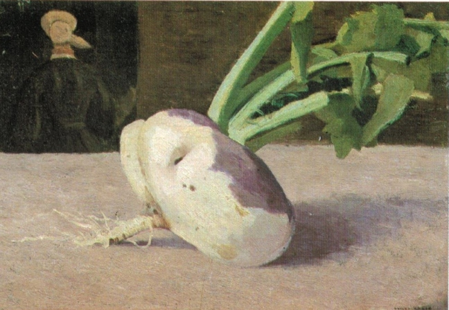 Redon, Celery Root, oil on canvas, 24.5 x 33.2 cm, Musee D'Orsay