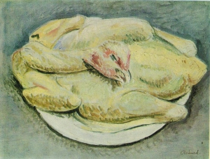 Édouard-Émery Richard (1844 – 1904), Plucked Hen, oil on canvas, 27 x 35 cm, the Heritage