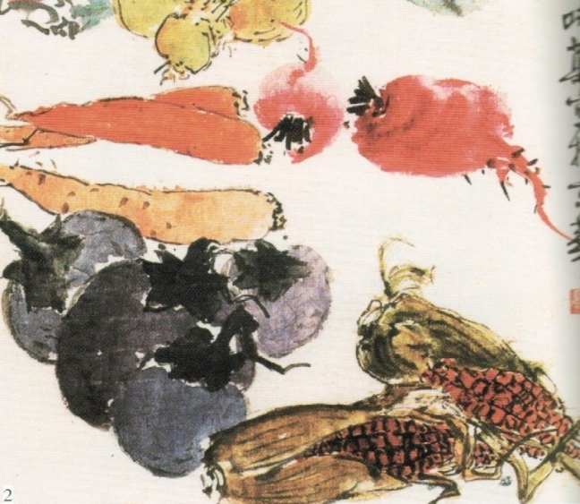 Guō Wèiqú 郭味蕖 (1908 – 1971), Happy Harvest, ink and watercolour on paper