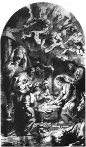 Rubens, P (1577 - 1640), The Adoration of the Shepherds, Drawing, Paris, Fondation Custodia