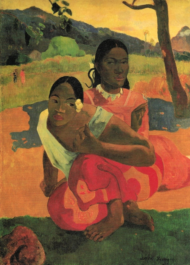 Paul Gauguin, Nafea Faa Ipoipo? (When Will You Marry?), (1892), 105 x 77.5 cm) Rudlf Staaechelin Foundation, Basel