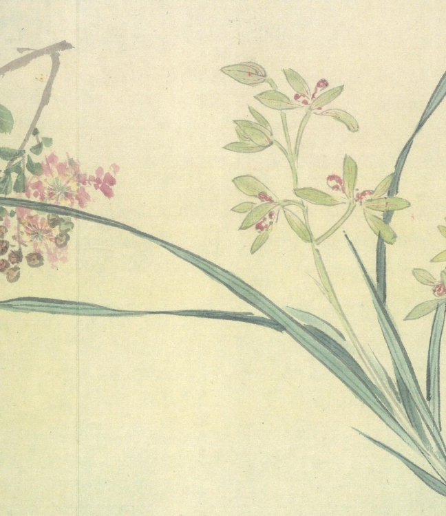 Zhōu Zhīmiǎn(周之冕) (born 1521) One Hundred Flowers Scroll (百卉圖), a small segment of a long scroll