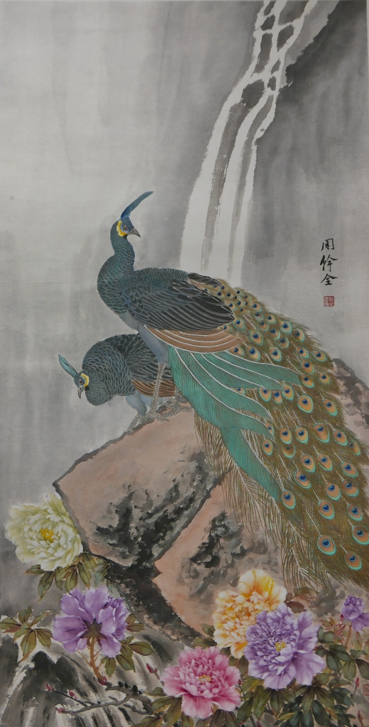 Two Peacocks